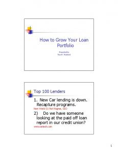 How to Grow Your Loan Portfolio