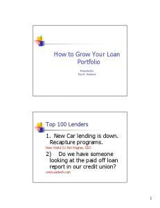How to Grow Your Loan Portfolio
