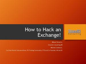 How to Hack an Exchange!