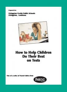 How to Help Children Do Their Best on Tests