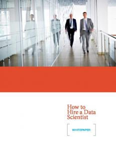 How to Hire a Data Scientist WHITEPAPER