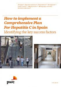 How to implement a Comprehensive Plan For Hepatitis C in Spain Identifying the key success factors
