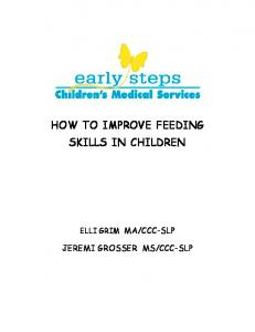 HOW TO IMPROVE FEEDING SKILLS IN CHILDREN