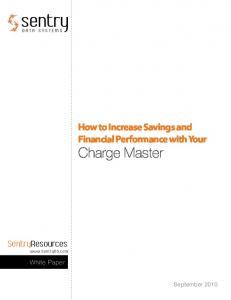 How to Increase Savings and Financial Performance with Your Charge Master