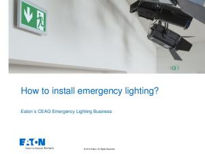 How to install emergency lighting?