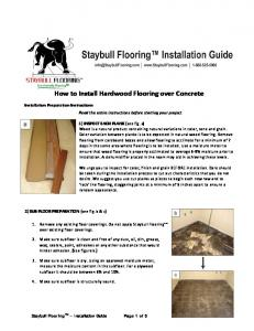 How to Install Hardwood Flooring over Concrete