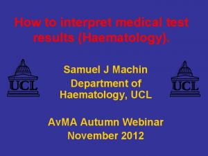 How to interpret medical test results (Haematology)