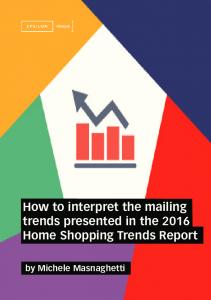 How to interpret the mailing trends presented in the 2016 Home Shopping Trends Report
