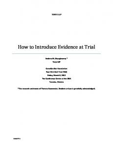 How to Introduce Evidence at Trial