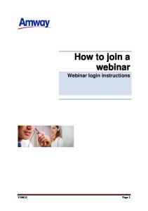 How to join a webinar Webinar login instructions