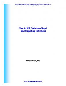 How to Kill Stubborn Staph and Superbug Infections