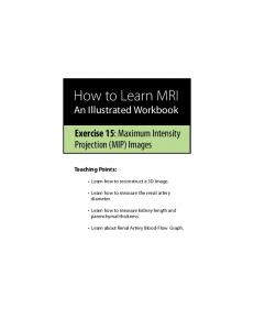How to Learn MRI An Illustrated Workbook