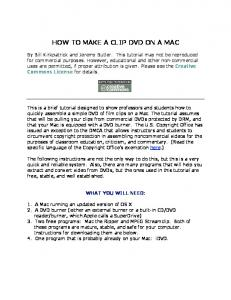HOW TO MAKE A CLIP DVD ON A MAC