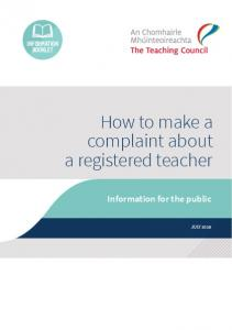 How to make a complaint about a registered teacher