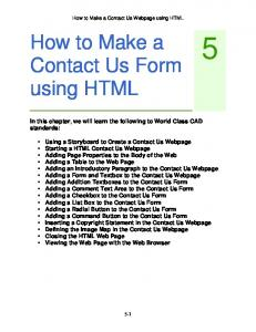 How to Make a Contact Us Form