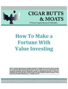 How To Make a Fortune With Value Investing