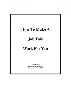 How To Make A. Job Fair. Work For You
