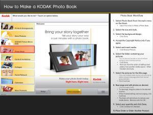 How to Make a KODAK Photo Book