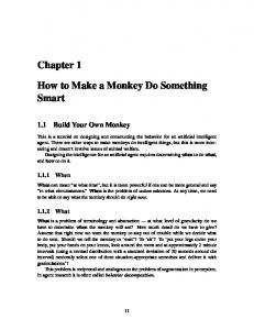 How to Make a Monkey Do Something Smart