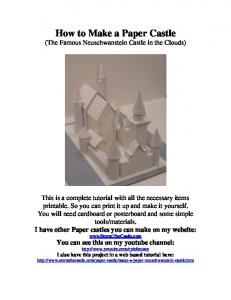 How to Make a Paper Castle (The Famous Neuschwanstein Castle in the Clouds)
