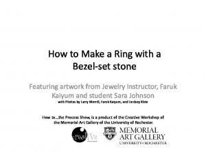 How to Make a Ring with a Bezel set stone