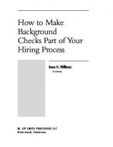 How to Make Background Checks Part of Your Hiring Process