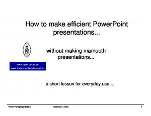 How to make efficient PowerPoint presentations