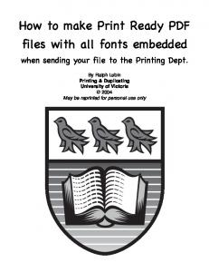 How to make Print Ready PDF files with all fonts embedded
