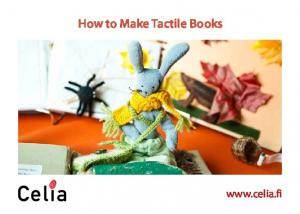 How to Make Tactile Books