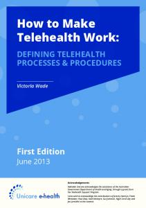 How to Make Telehealth Work: