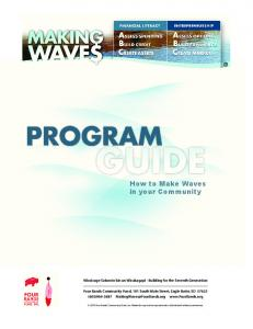 How to Make Waves in your Community