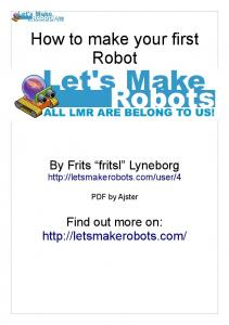 How to make your first Robot