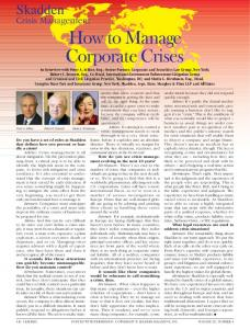 How to Manage Corporate Crises