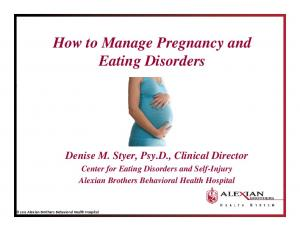 How to Manage Pregnancy and Eating Disorders