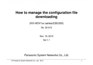 How to manage the configuration file downloading