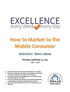 How to Market to the Mobile Consumer