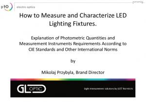 How to Measure and Characterize LED Lighting Fixtures