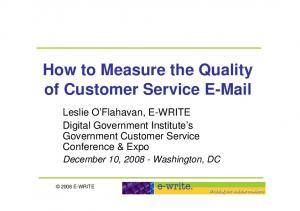 How to Measure the Quality of Customer Service