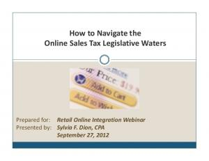 How to Navigate the Online Sales Tax Legislative Waters