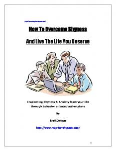 How To Overcome Shyness. And Live The Life You Deserve