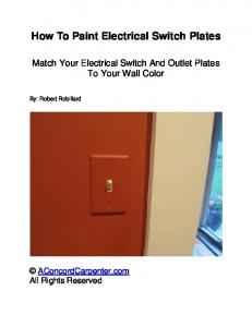 How To Paint Electrical Switch Plates