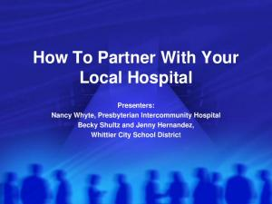 How To Partner With Your Local Hospital