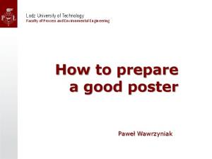 How to prepare a good poster