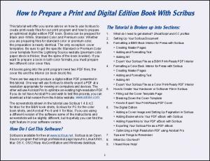 How to Prepare a Print and Digital Edition Book With Scribus