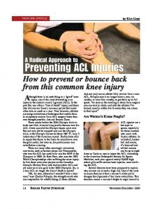 How to prevent or bounce back from this common knee injury