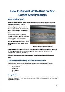 How to Prevent White Rust on Zinc Coated Steel Products