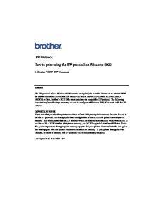 How to print using the IPP protocol on Windows 2000