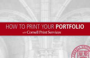 HOW TO PRINT YOUR PORTFOLIO. with