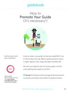 How to Promote Your Guide (it s necessary!)