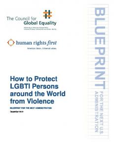 How to Protect LGBTI Persons around the World from Violence